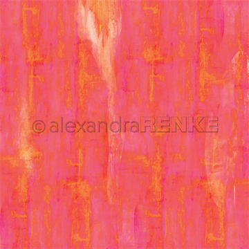 "Happymade - Alexandra Renke - 12x12"" - Autumn Wild Budgie Pink Orange - 10.1431"