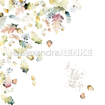 "Happymade - Alexandra Renke - 12x12"" - X-Mas Floral Acorns International - 10.1464x"