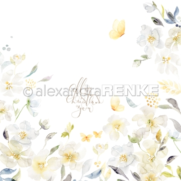 "Happymade - Alexandra Renke - 12x12"" - X-Mas Floral Christmas Rose International - 10.1465x"