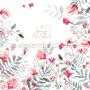 "Happymade - Alexandra Renke - 12x12"" - X-Mas Floral Rowanberry International - 10.1470x"