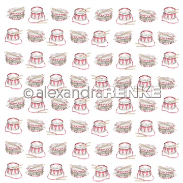 "Happymade - Alexandra Renke - 12x12"" - Christmas Kids - Drums - 10.1503"