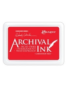 Archival Ink Pad - Carnation Red