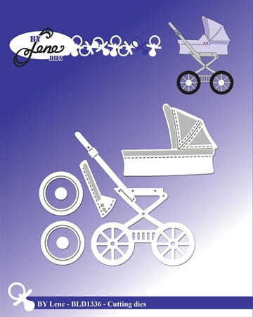 Happymade - By Lene Design - Die - Baby Carriage - BLD1336