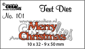 CREAlies - Text die - Merry Christmas CLTD 101