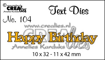 CREAlies - Text die - Happy Birthday - CLTD 104