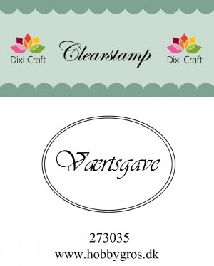 Dixi Craft clear stamp - Værtsgave