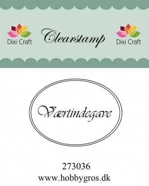 Dixi Craft clear stamp - Værtindegave