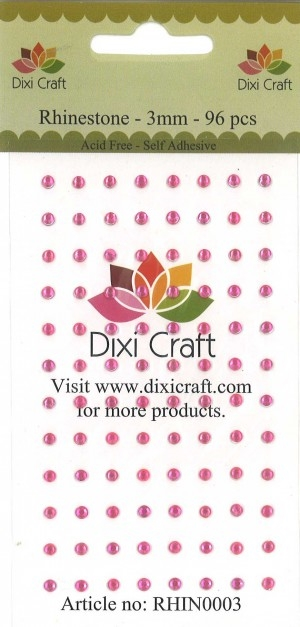 Dixi Craft - Rhinsten - 3mm - Pink