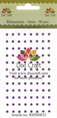Dixi Craft - Rhinsten - 3mm - Violet