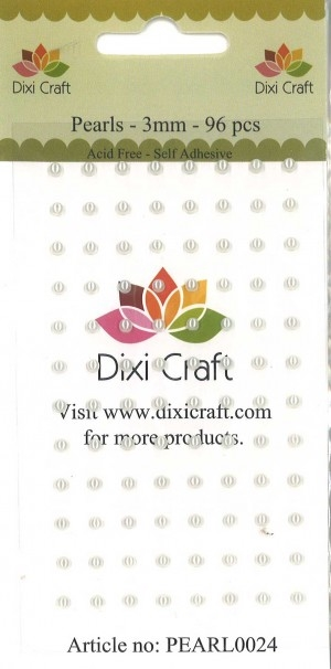Dixi Craft - Halvperler - 3mm - Cremefarvet