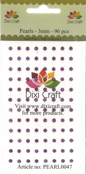 Dixi Craft - Halvperler - 3mm - Violet
