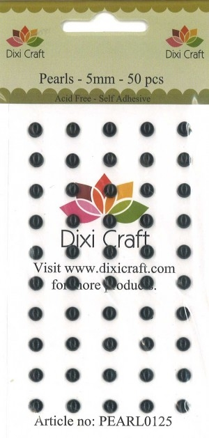 Dixi Craft - Halvperler - Sort - 5mm