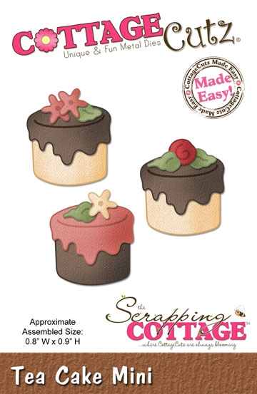 Happymade - CottageCutz Tea cake mini - CC123