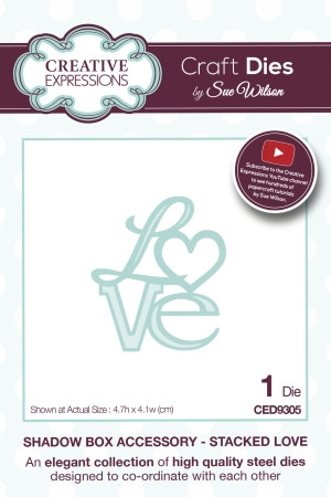 Creative Expressions - by Sue Wilson - Stacked Love (CED9305)