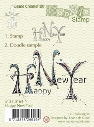 Leane Creatief clear stamp - Doodle Happy New Year
