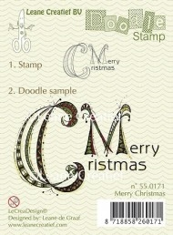 Leane Creatief clear stamp - Doodle Merry Christmas