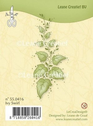 Leane Creatief clear stamp - Ivy Swirl