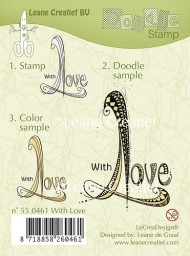 Leane Creatief clear stamp - Doodle With Love
