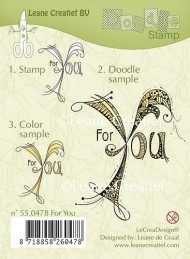 Leane Creatief clear stamp - Doodle For You
