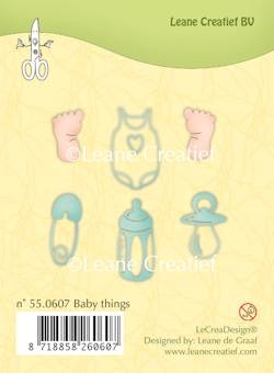 Leane Creatief clear stamp - Baby things