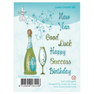 Leane Creatief clear stamp - Celebrate