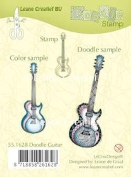 Leane Creatief clear stamp - Doodle Guitar