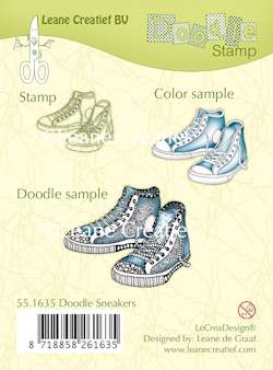 Leane Creatief clear stamp - Doodle Sneakers