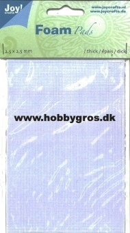 Joy Foam Pads - 3D Puder - Ark med 2.400stk. 2½x2½mm (½mm)