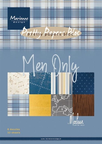 Happymade - Marianne Design - Pretty Papers Bloc A5 - Men Only - PK9169