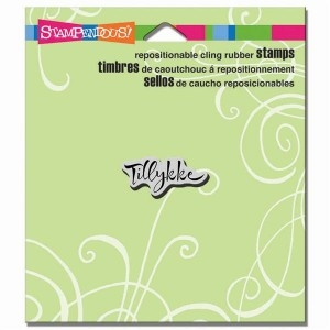 Stampendous - Cling Rubber Stamp - Tillykke
