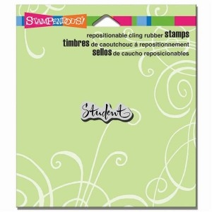 Stampendous - Cling Rubber Stamp - Student