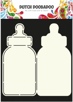 Dutch Doobadoo - Card art - Baby bottle