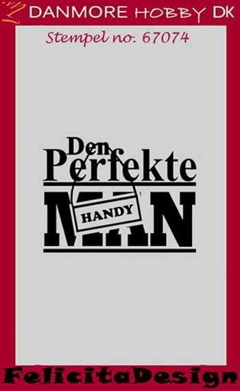 Felicita Design clear stamp - Den perfekte handy man - 67074