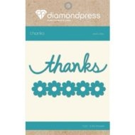 Diamond Press - Word dies - Thanks and flowers