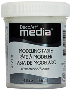 DecoArt Media Modeling Paste - Hvid - 118ml.