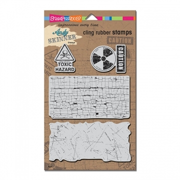 Stampendous - Cling Rubber Stamp Set - Toxic