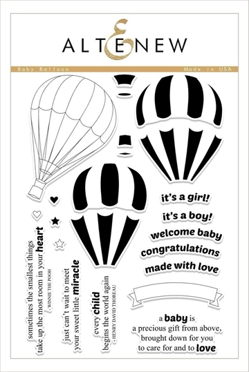 Altenew clear stamp set - Baby Balloon
