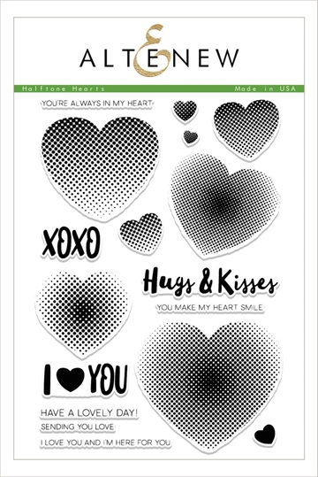 Altenew Halftone Hearts