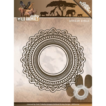 Amy Design Die - Wild Animals - African Circle - ADD10104