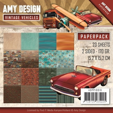 Amy Design Paper - Vintage Vehicles - ADPP10016