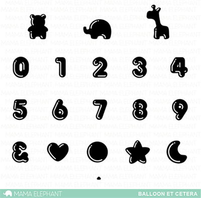 Mama Elephant clear stamp set - Balloon et cetera