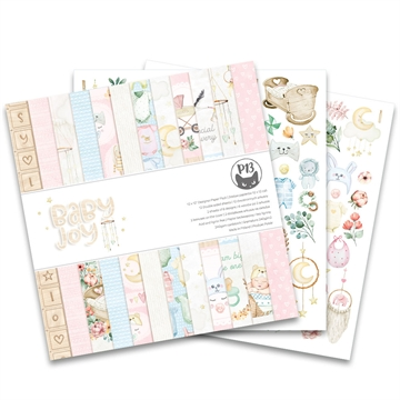 "Happymade - Piatek - Design papers - Baby Joy - 12x12"" (pakn. m/12 + 2 bonus ark)"