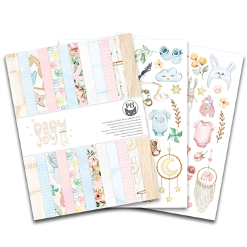 "Happymade - Piatek - Design papers - Baby Joy - 6x8"" (pakn. m/24 + 2 bonus ark)"
