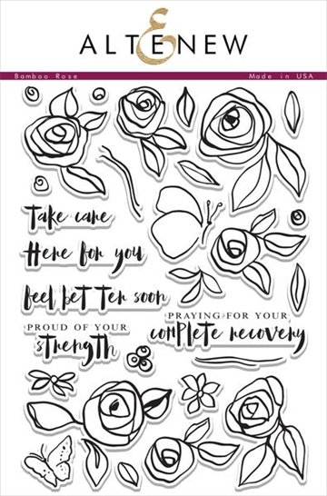 Altenew clear stamp set - Bamboo Rose