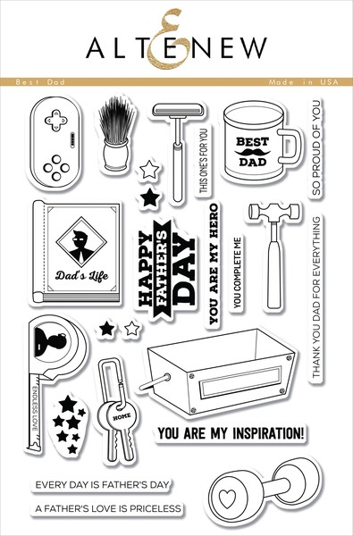 Altenew clear stamp set - Best dad