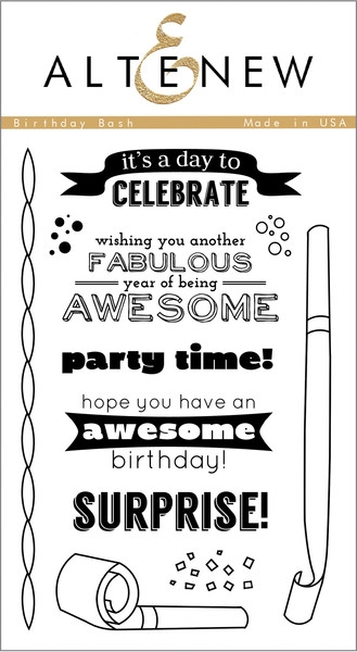 Altenew clear stamp set - Birthday bash