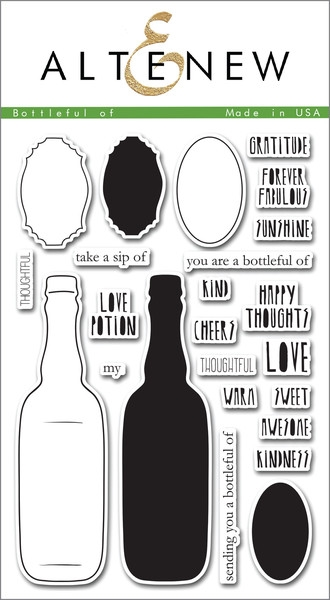Altenew clear stamp set - Bottleful of