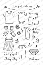 Impression Obsession Clear Stamp Set - CL539 Clothesline
