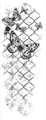 KaiserCraft clear stamp - Flutter - CS853