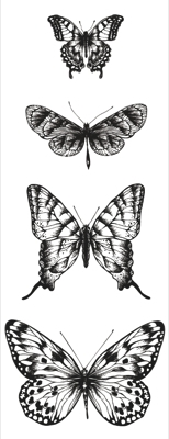 KaiserCraft clear stamp - Butterflies - CS854